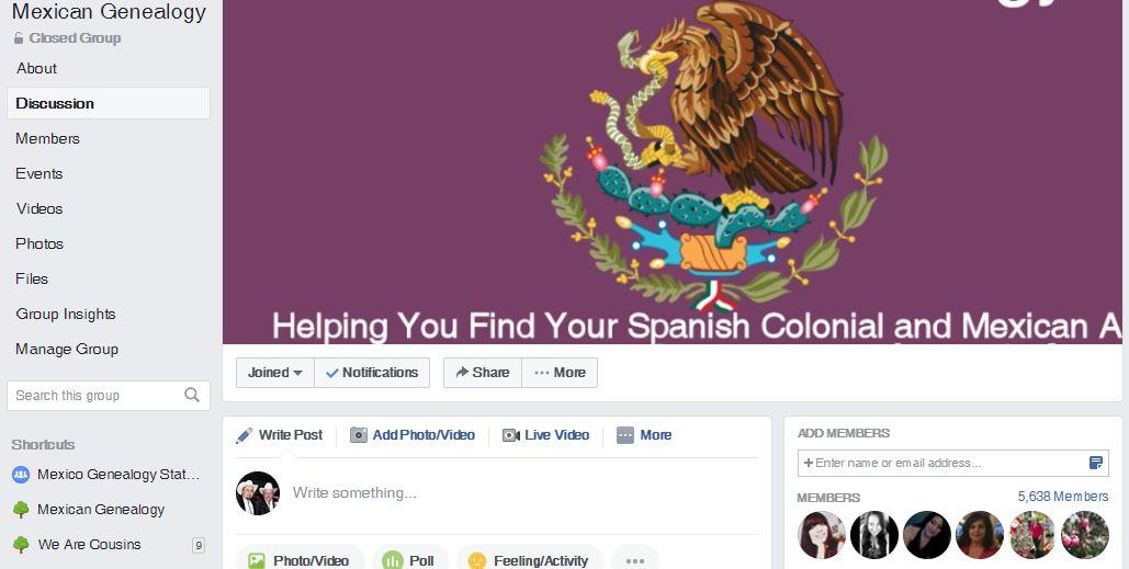 Mexican Genealogy Facebook Group