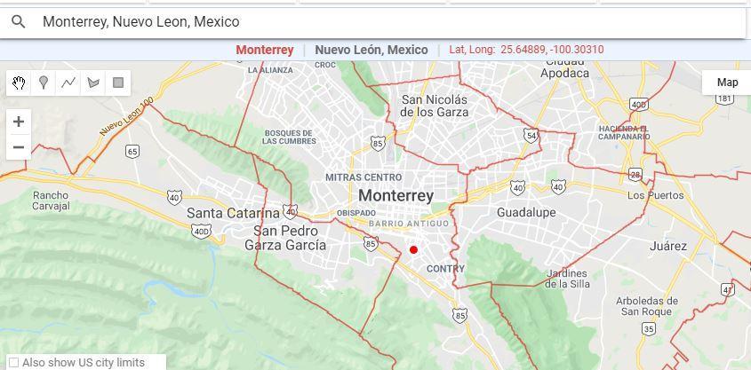 Municipalities around Monterrey